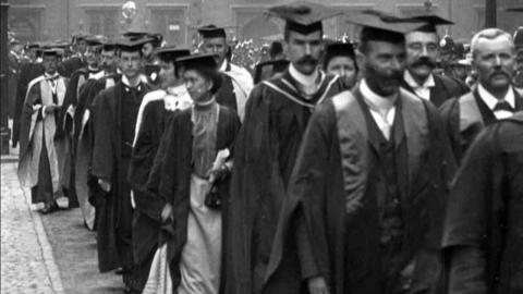 Birmingham University Procession on Degree Day (1901)