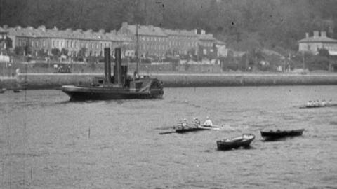 Crews Practising on River Lee at Cork Regatta (1902)