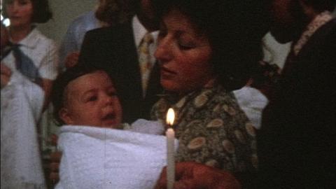 Watts Family Films: Karen's Christening, Epsom (1973)